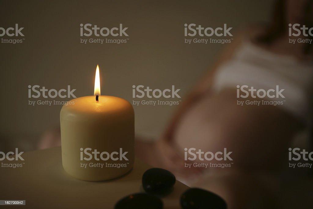 Pregnancy Aromatherapy stock photo