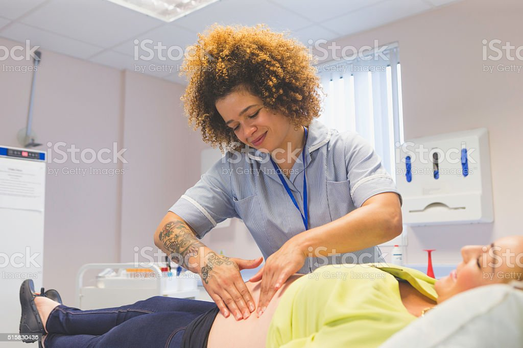 Pregnancy Health Check stock photo