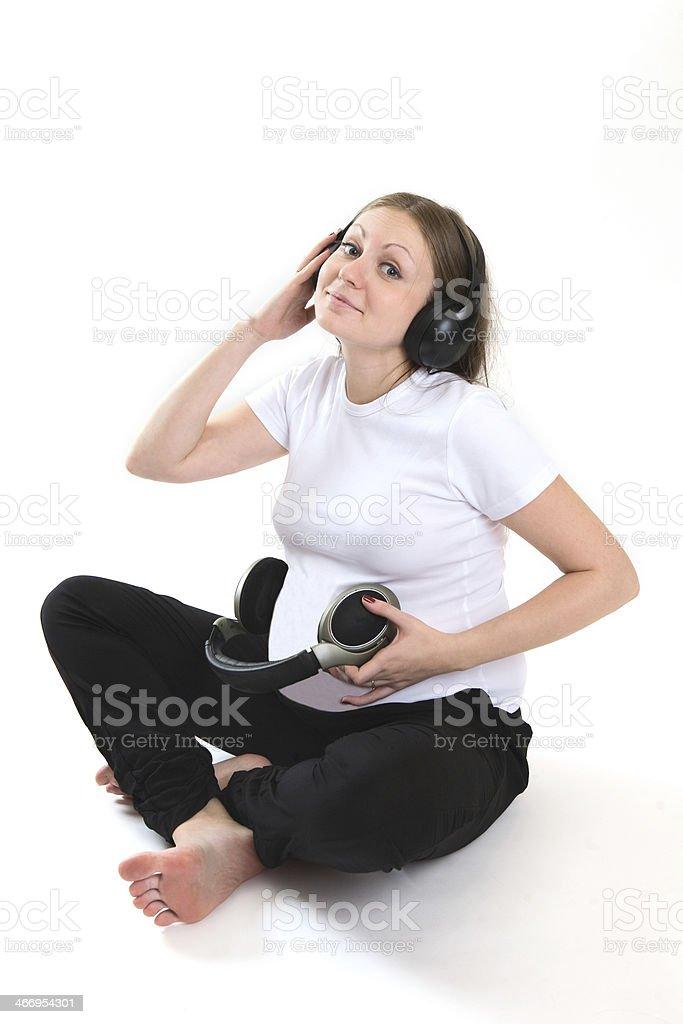 pregnancy, music stock photo