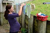 Pregnancy - pregnant woman housework