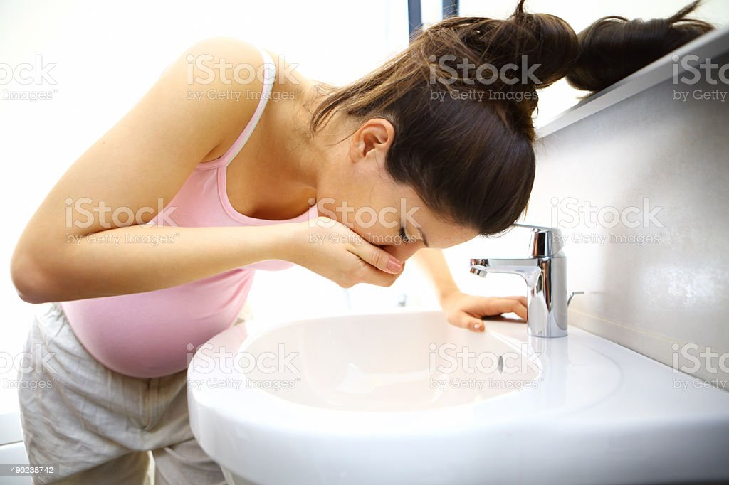 Pregnancy sickness. stock photo