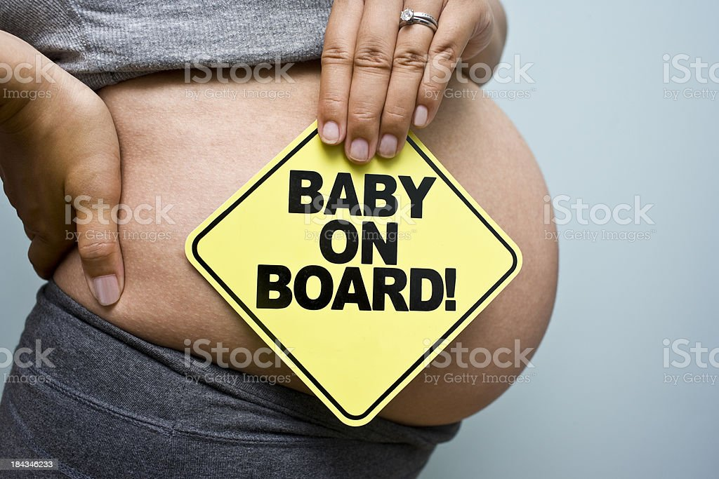 Pregnancy Sign stock photo