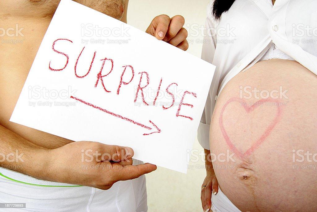 Embarazo sorpresa foto de stock libre de derechos