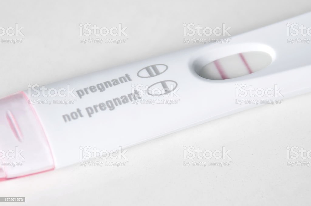 Pregnancy Test Close-Up - Pregnant stock photo