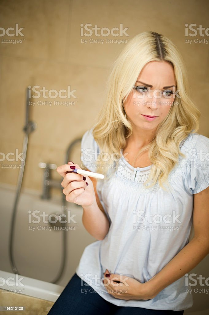 pregnancy test stock photo