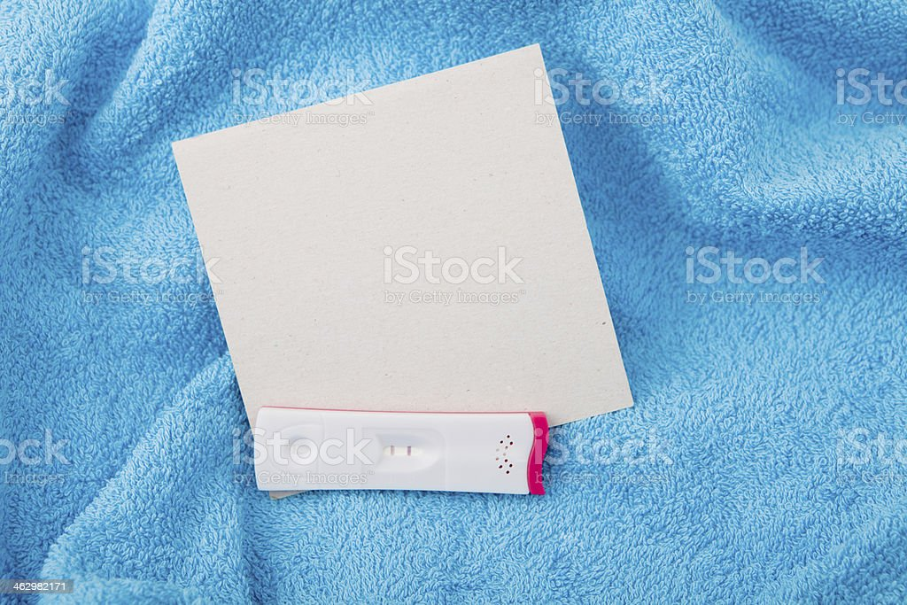 Pregnancy test - positive stock photo