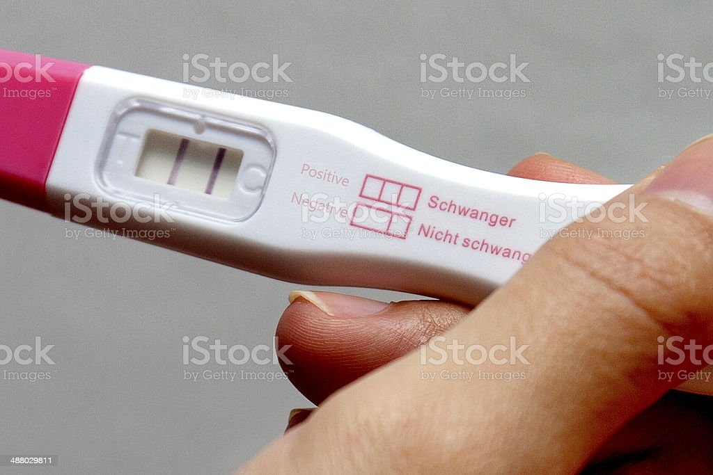 Pregnancy Test - Positive Pregnant stock photo