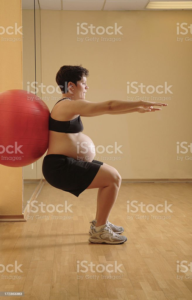 Pregnancy Yoga royalty-free stock photo