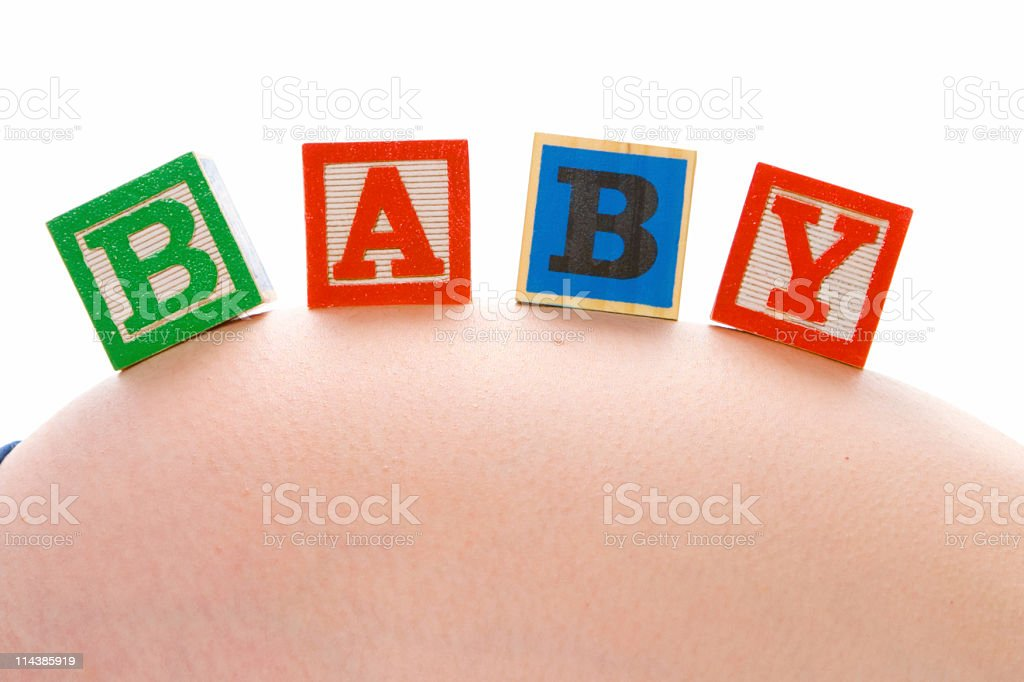 Pregnant Baby Text royalty-free stock photo