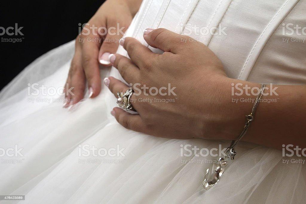 pregnant bride royalty-free stock photo