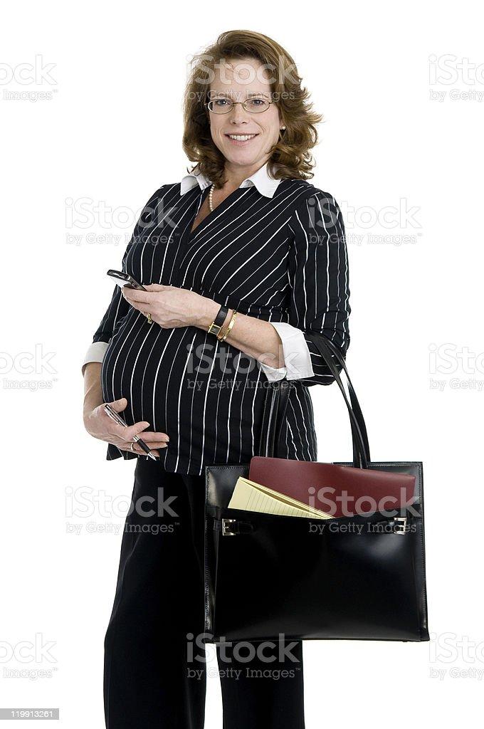 Mujer embarazada negocios foto de stock libre de derechos