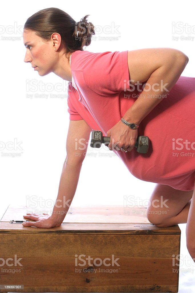 Pregnant fit10 royalty-free stock photo