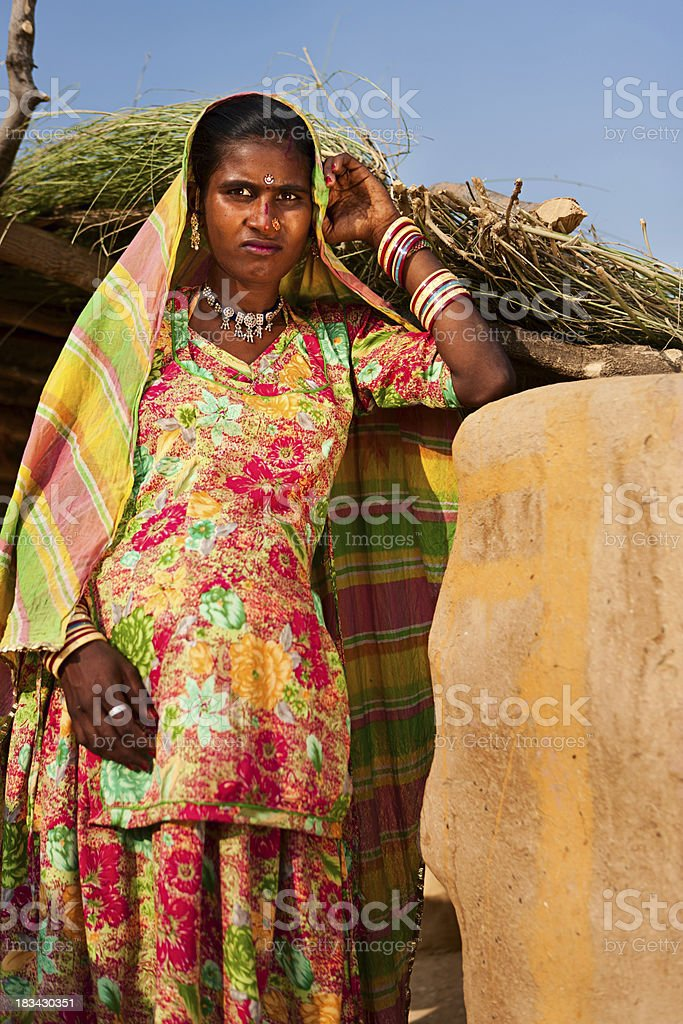 Pregnant Indian woman royalty-free stock photo
