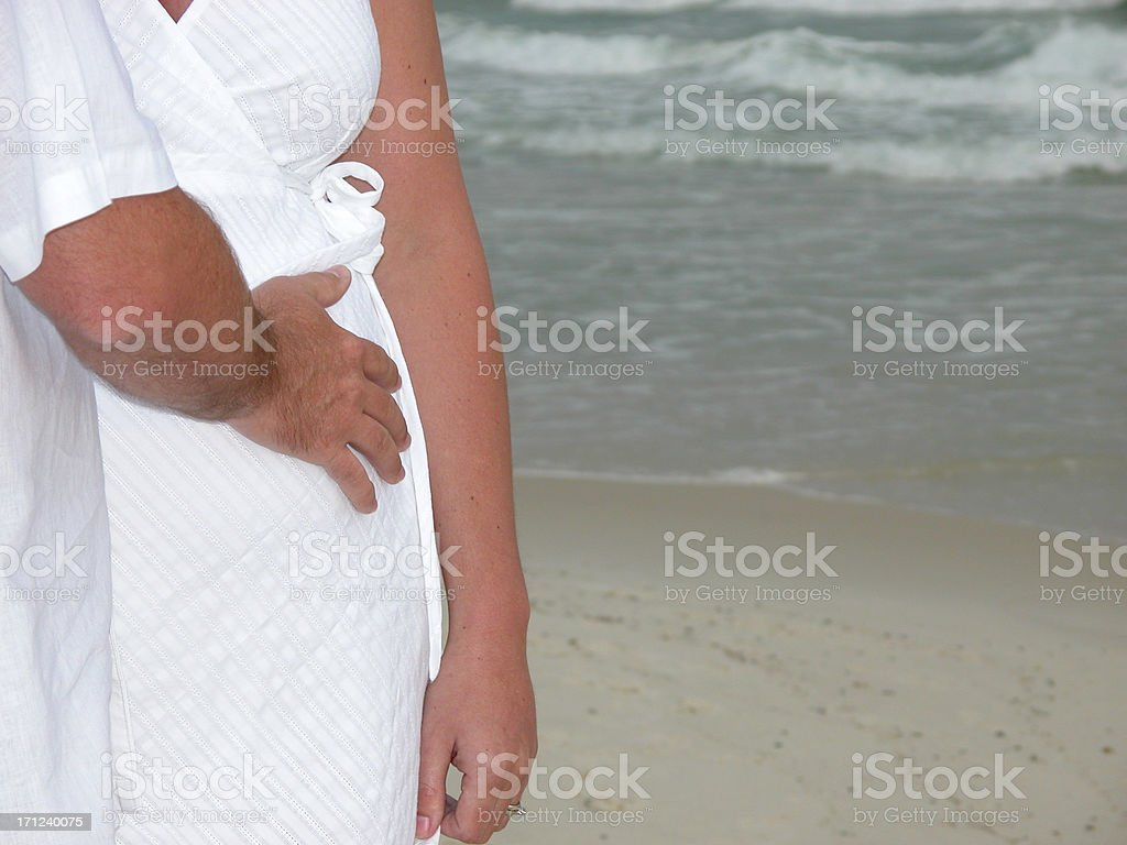 Pregnant Mother and Father stock photo