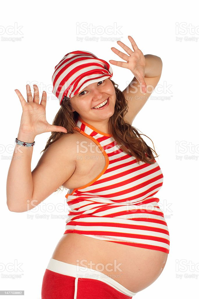 Pregnant Smiling Woman royalty-free stock photo