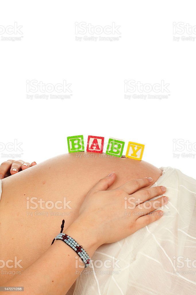 Pregnant stomach royalty-free stock photo