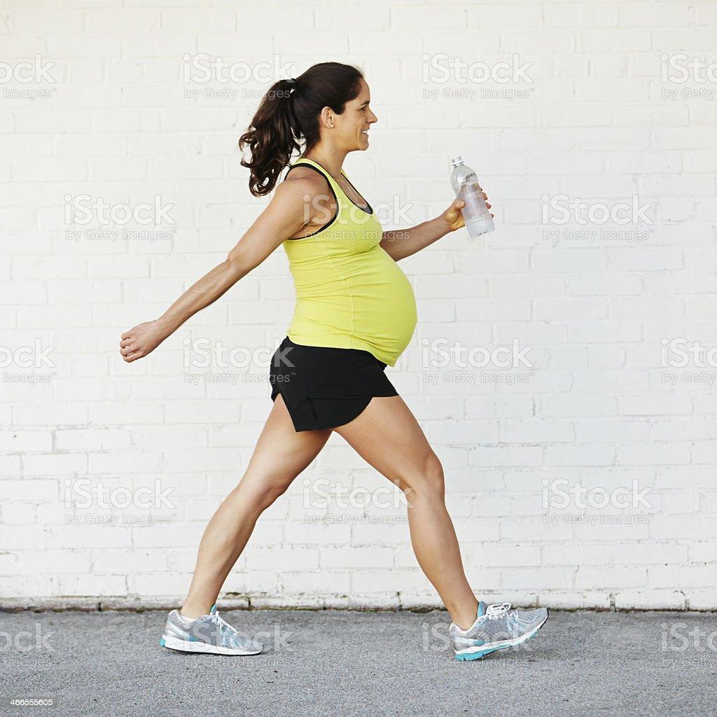 Pregnant Woman Excercising stock photo