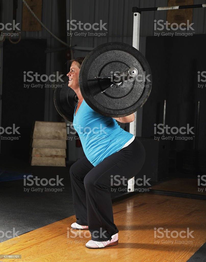 Pregnant Woman Fitness Exercise Workout Back Squat royalty-free stock photo
