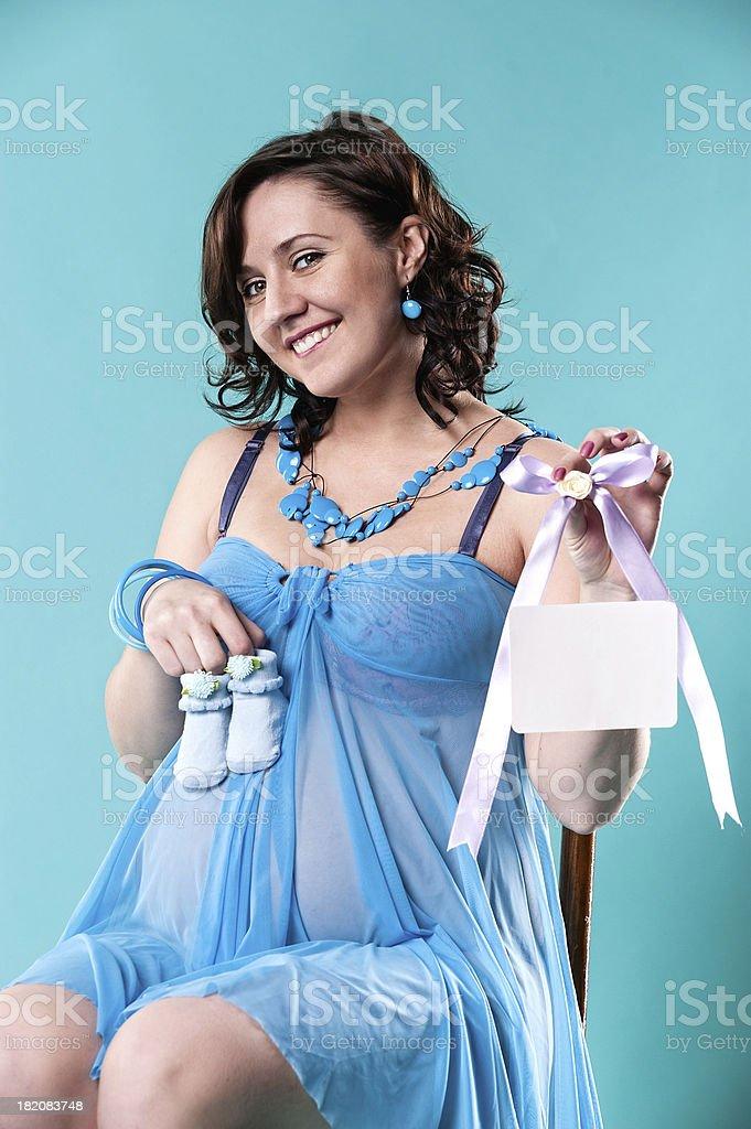 Pregnant woman royalty-free stock photo