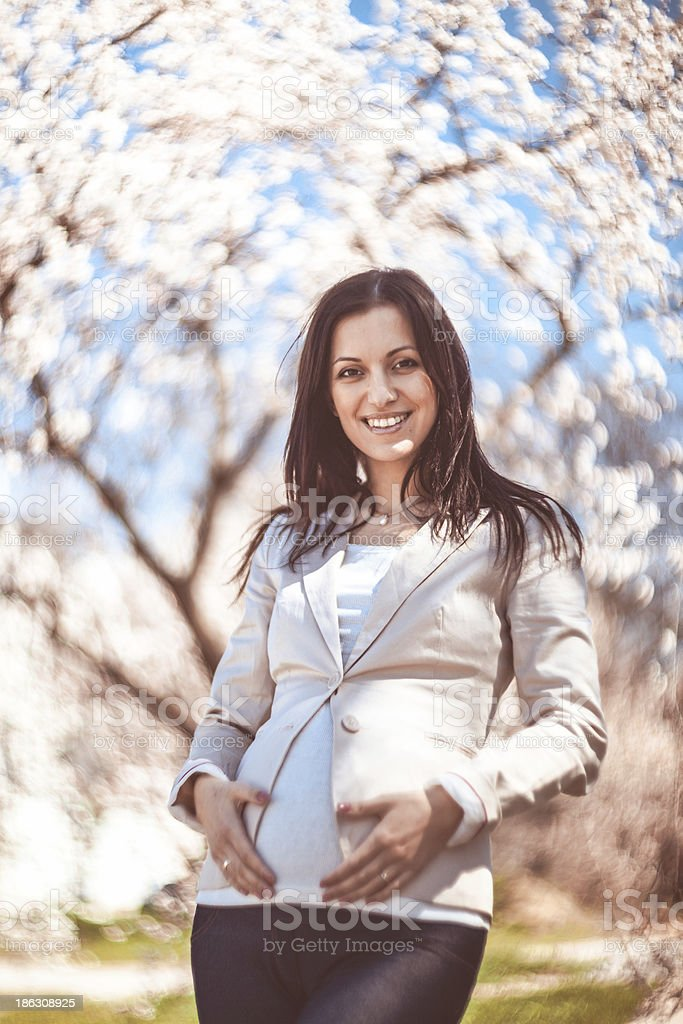 Schwangere Frau Lizenzfreies stock-foto