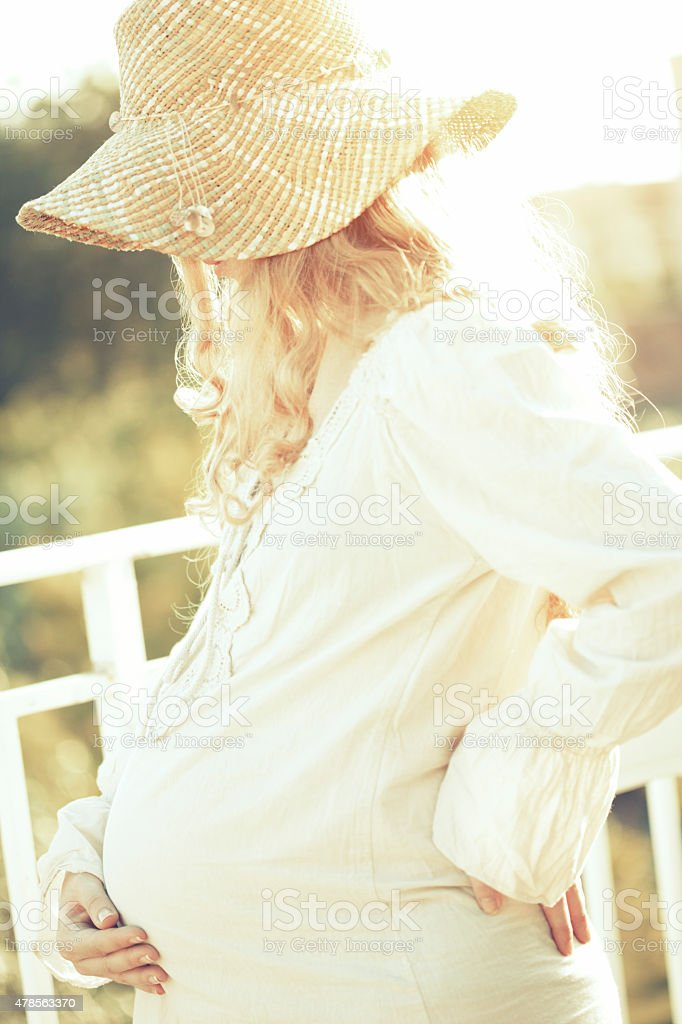 Pregnant woman stock photo