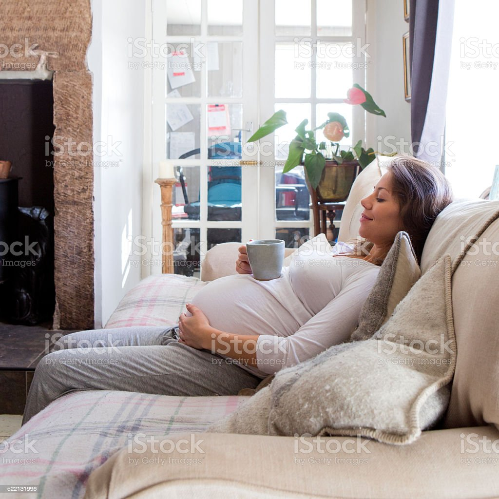 Pregnant Woman Relaxing stock photo