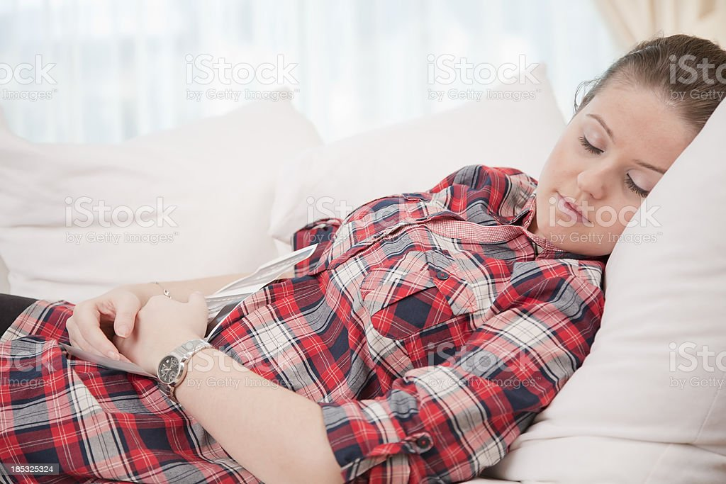Pregnant women having a rest royalty-free stock photo