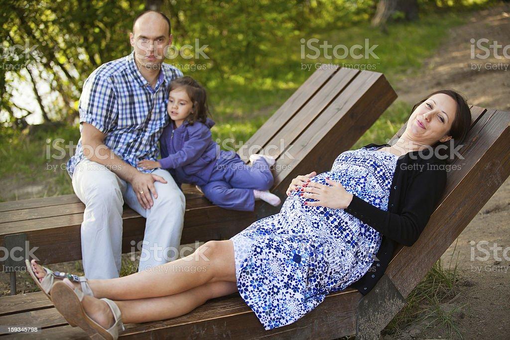 Pregnant women royalty-free stock photo