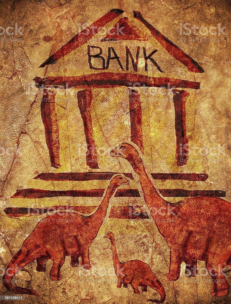 prehistoric bank royalty-free stock photo