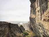 Prehistoric buildings. Gobustan National Park (Gobustan Rock Art Cultural Landscape)