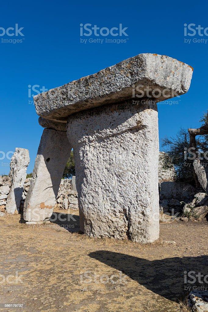 Prehistoric dolmen stock photo