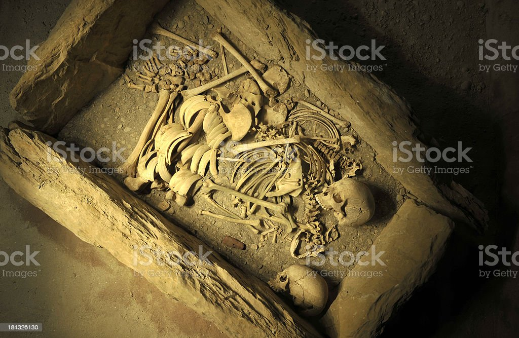 Prehistoric grave stock photo