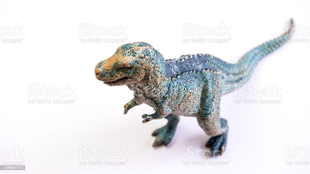 Prehistoric jurassic dinosaur called allosaurius, on white background stock photo