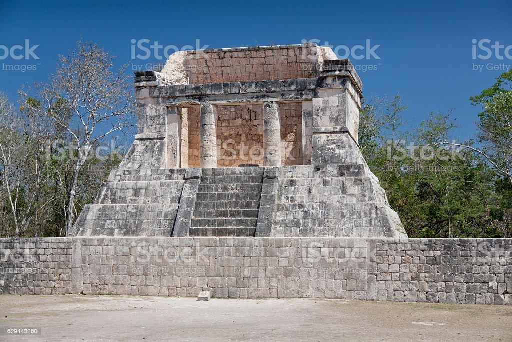 Prehistoric Mayan ruin at Chichen Itza, Yucatan, Mexico. stock photo