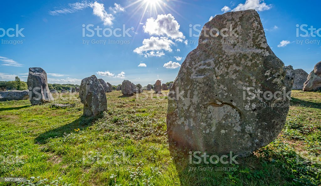 Prehistoric Megaliths in Carnac stock photo