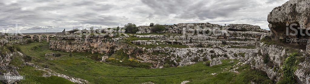 Prehistoric panorama stock photo