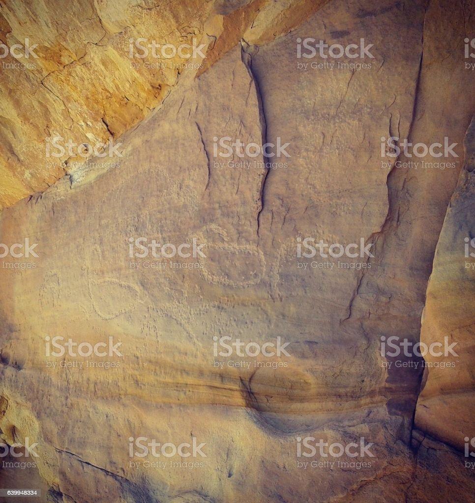 Prehistoric Rock Art stock photo