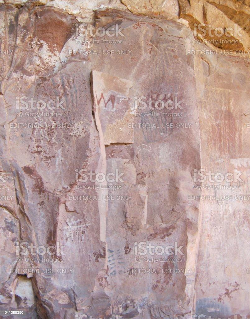 Prehistoric Southwestern Rock Art stock photo