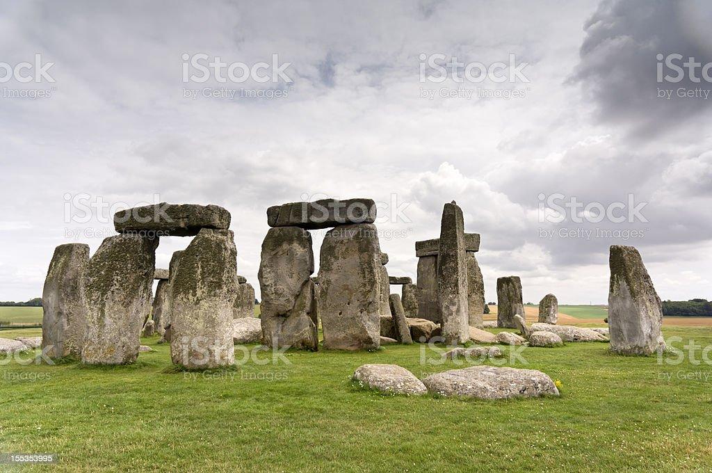 Prehistoric Stonehenge England stock photo