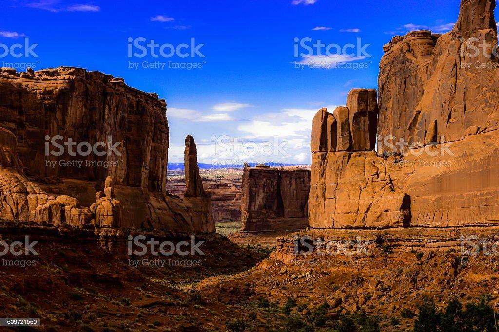 Prehistoric Valley. stock photo