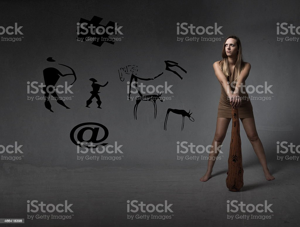 prehistory technological sign stock photo