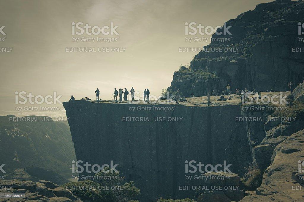 Preikestolen. Pulpit rock. royalty-free stock photo