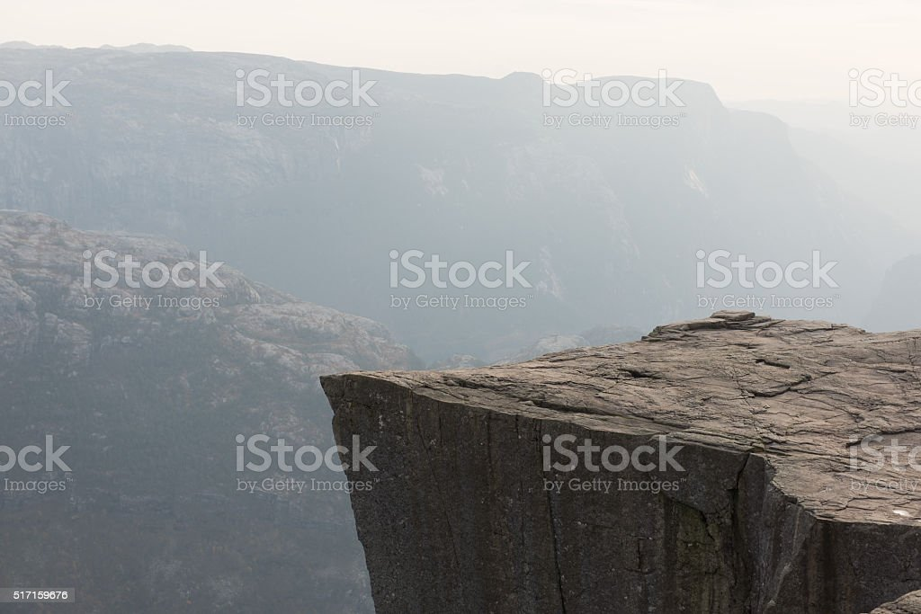 Preikestolen - the Pulpit Rock in Norway stock photo