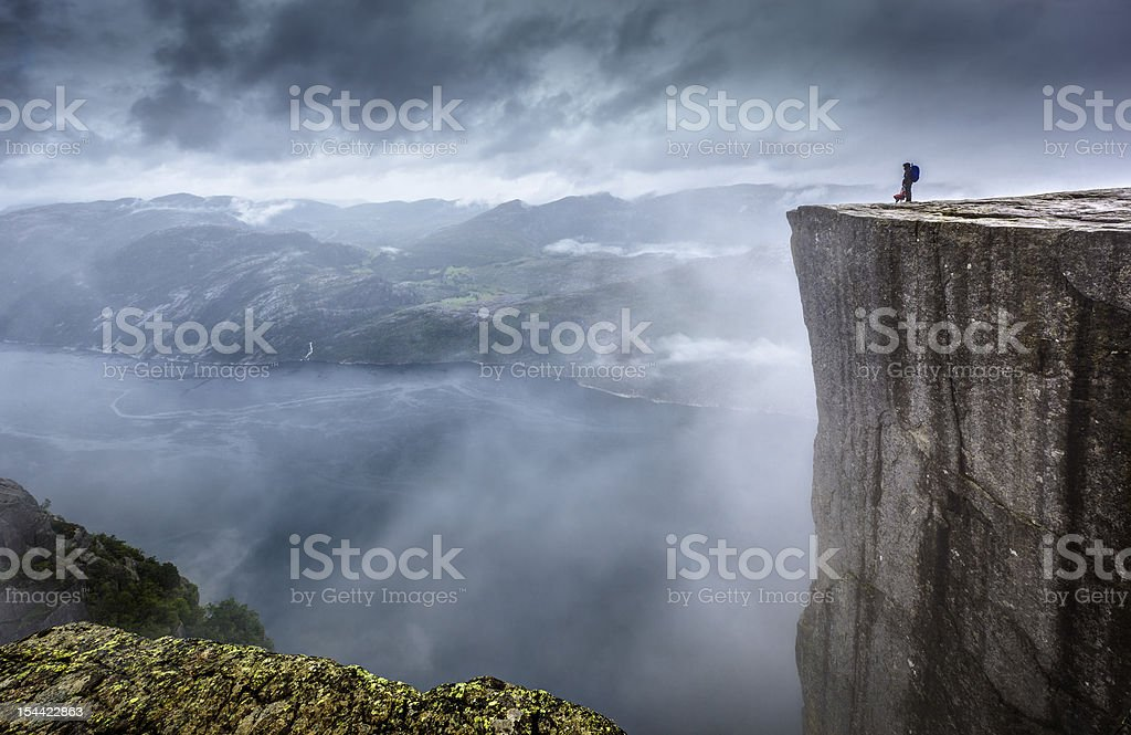 Prekestolen stock photo