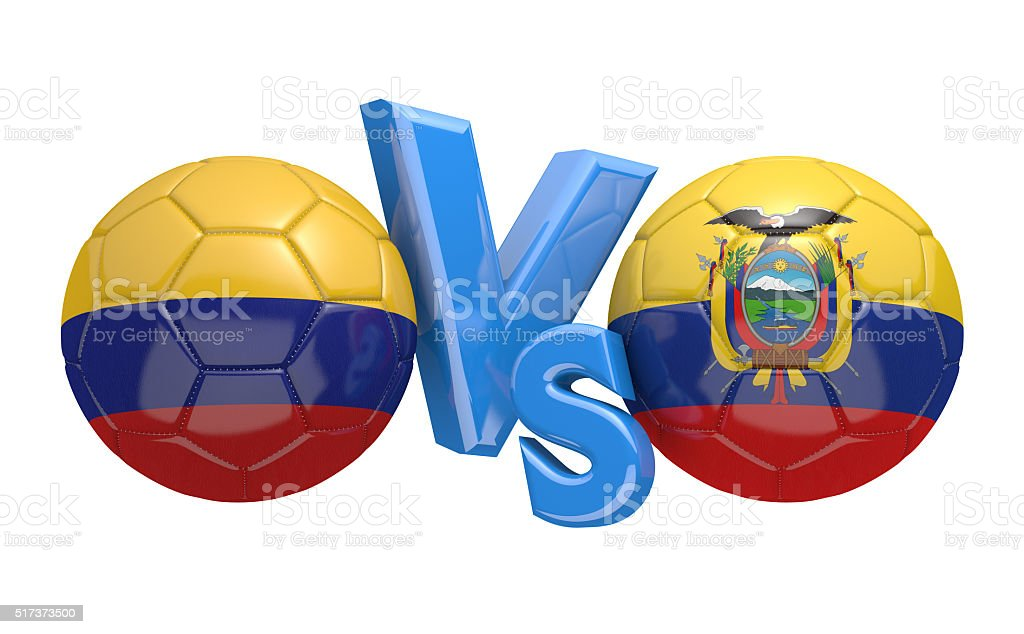 Preliminary competition football match between national teams Colombia and Ecuador stock photo