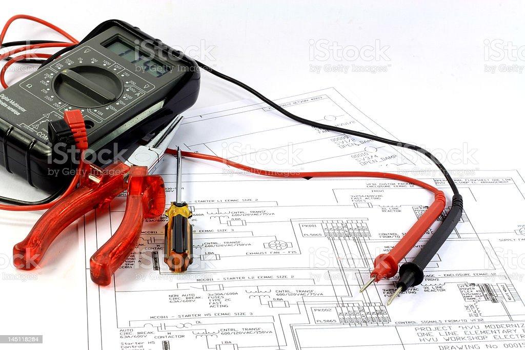 Preliminary Engineering Study. stock photo