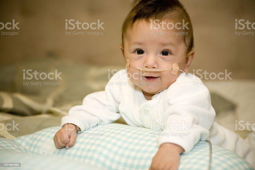 Premature Baby Boy stock photo