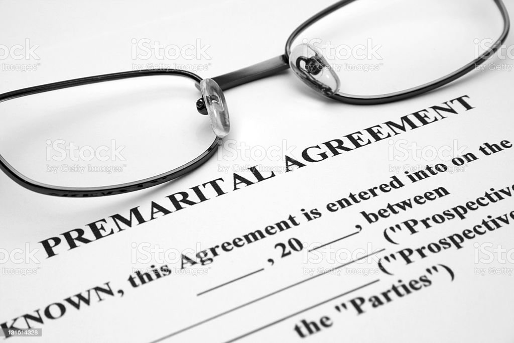 Premerital agreement stock photo