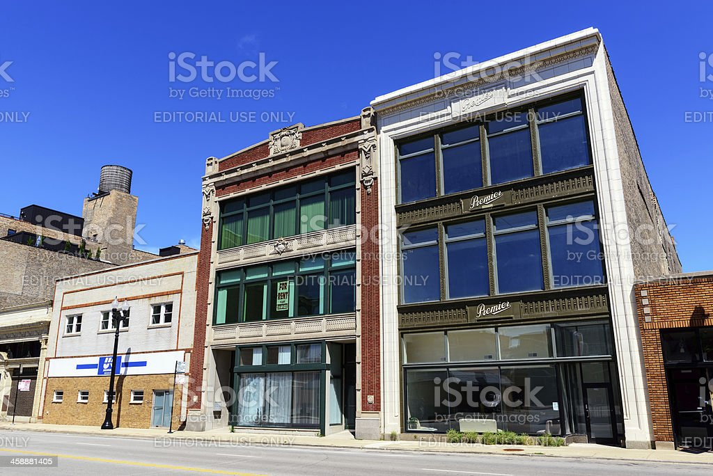 Premier Showroom  in the Motor Row District of Chicago royalty-free stock photo