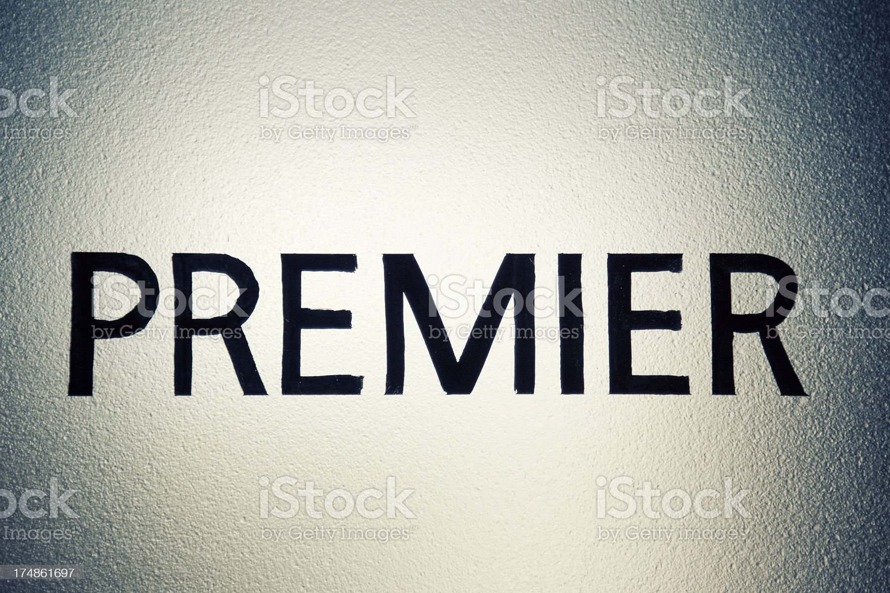Premier Sign royalty-free stock photo